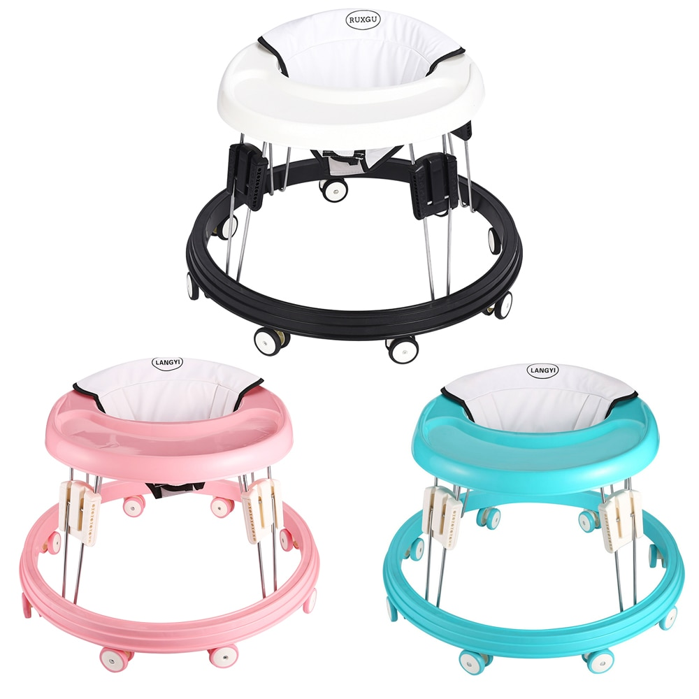 купить RUXGU Baby Walker With Wheel And Seat Foldable Baby Walk Learning Multi-Functional Anti Rollover Infant Seat Car 6-26 Months в интернет-магазине