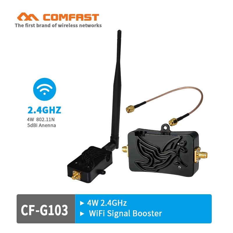 4W واي فاي اللاسلكية ذات النطاق العريض مكبر للصوت راوتر 2.4Ghz 802.11n قوة المدى إشارة الداعم ل Wifi راوتر شحن مجاني CF-G103