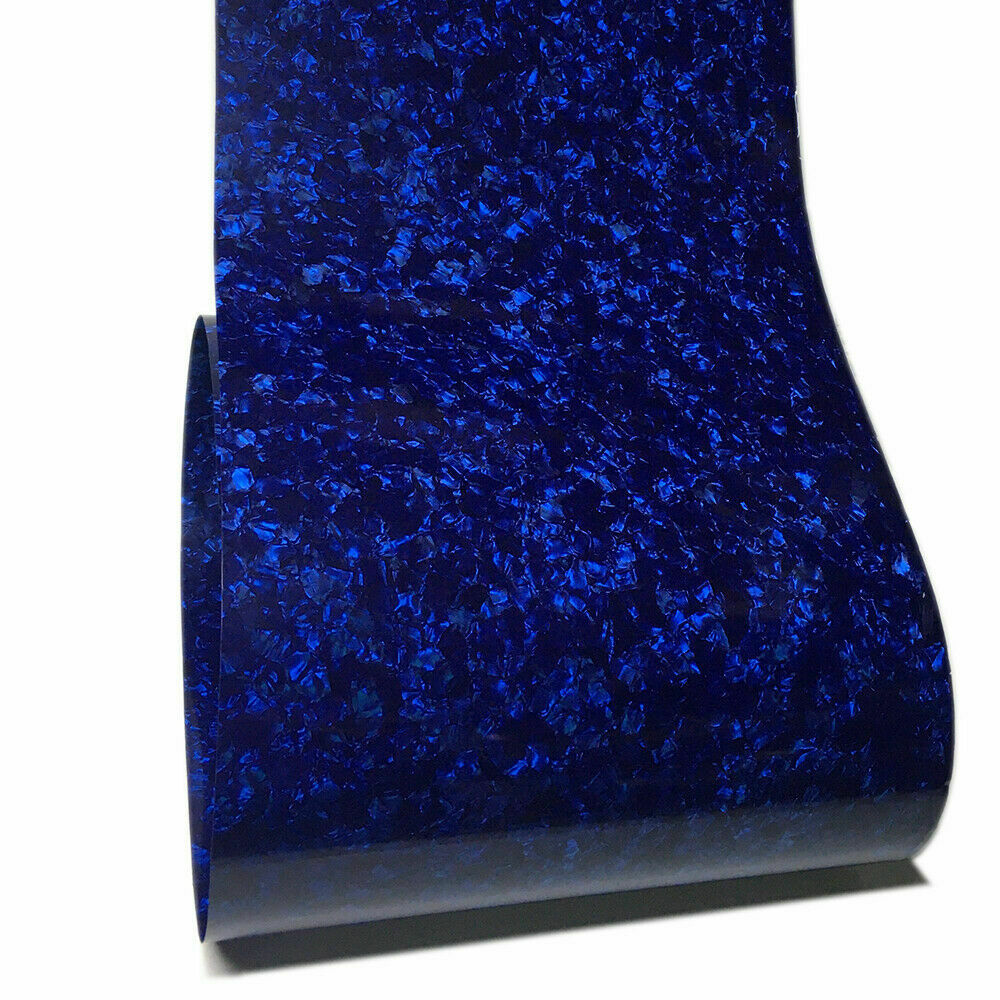2Pcs Celluloid Sheet Drum Wrap Musical Instrument Deco Pearl Blue 10x60'' and 16x60'' enlarge
