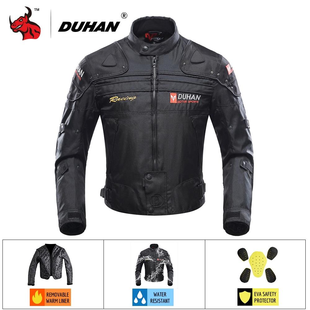 DUHAN Motorcycle Jacket Autumn Winte cold-proof Jaqueta Motociclista Motorbike Riding Jacket Moto Motocross Clothing Black ##