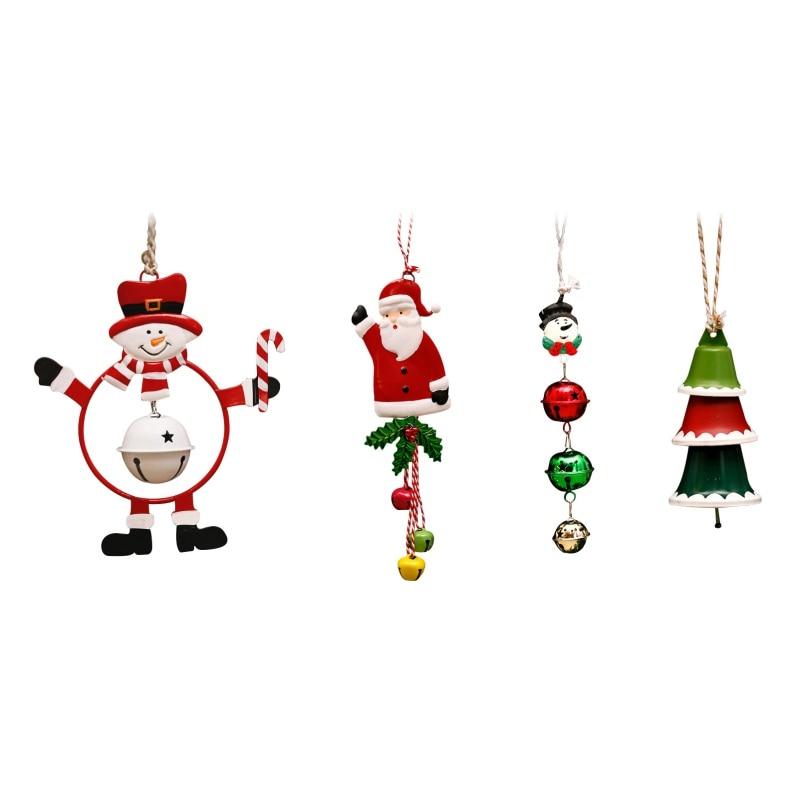 Decoración navideña, colgante para árbol de Navidad de campana de hierro forjado, bonitos adornos colgantes, cadena de reloj Liberty