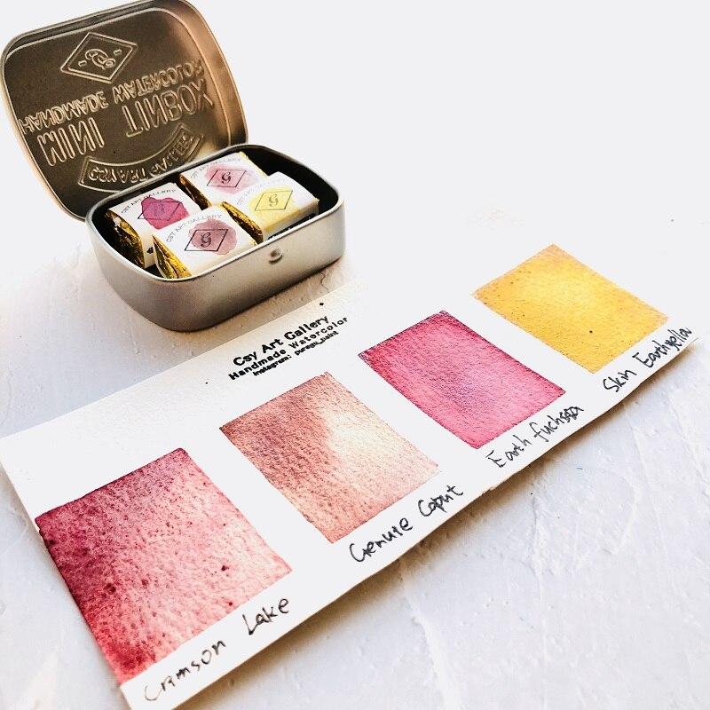 Pigmento sólido de acuarela Mineral hecho a mano, materiales sin procesar, pintura...