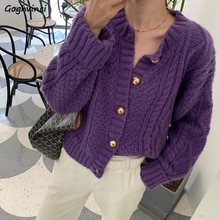 Cardigan Women All-mach Korean Style Spring Autumn Knitted Sweater Loose Cute Buttons Long Sleeve Of
