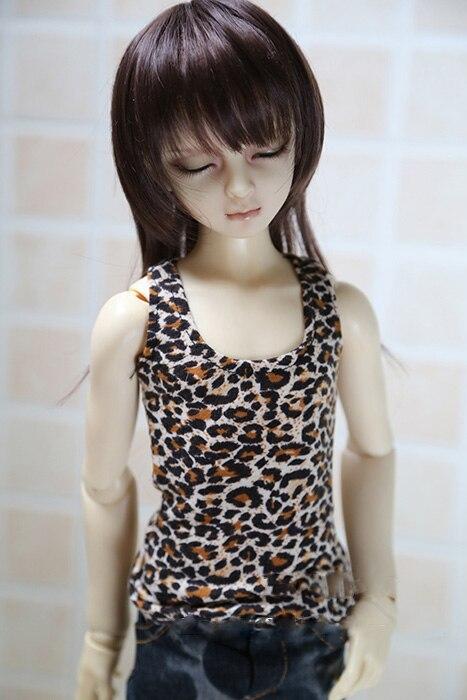 1/4 de 1/3 escala BJD ropa Top estampado de leopardo chaleco para BJD/SD MSD SD13 SD17 SSDF ID72 escondió fuerte tío accesorios de la muñeca C0157