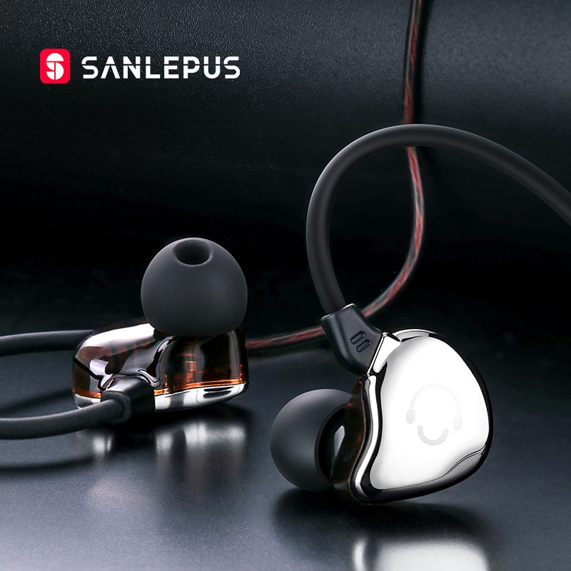Sanlepus com fio fone de ouvido estéreo alta fidelidade fones sobre a orelha extra baixo fones com microfone para iphone sony xiaomi huawei