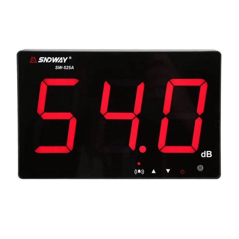 Настенный измеритель уровня звука SNDWAY с ЖК-дисплеем, 30-130 дБ