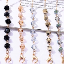 Fashion Acrylic Beaded Glasses Chain for Women New Alloy Sunglasses Holder Cord Lanyard Female Outdo