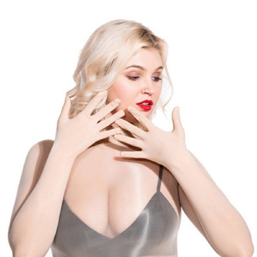 Vestido de seda con cinco dedos, Sexy, transparente, 8D, 912, aguja brillante, transpirable e Invisible, ultrafino, de una sola pieza