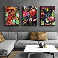 Affiches et imprimes avec Graffiti moderne  peinture sur toile amusante et masquee  images dart murales abstraites pour decoration murale de la maison