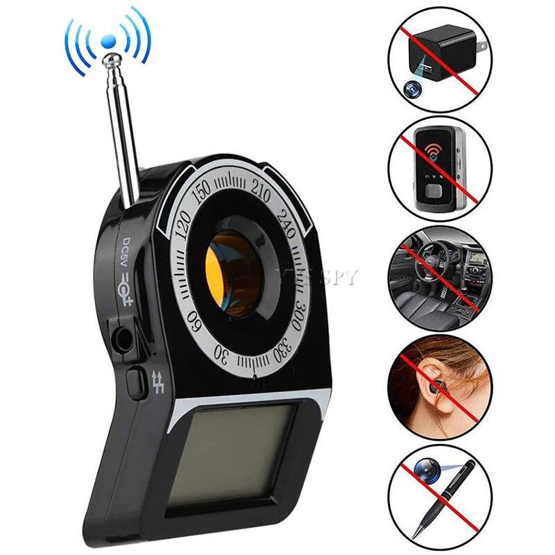 Mini CC309 RF Signal Detector Anti Spy Camera Wifi Wireless Wired Hidden Len Scanner Eavesdropping Bug Anti Candid Camara Finder