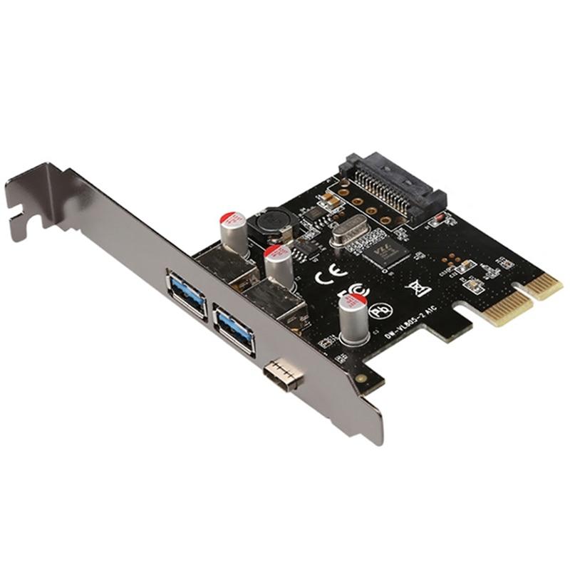 usb30 pci express placa de expansao tipo c porta gigabit rede rj45 expansao para mac windows