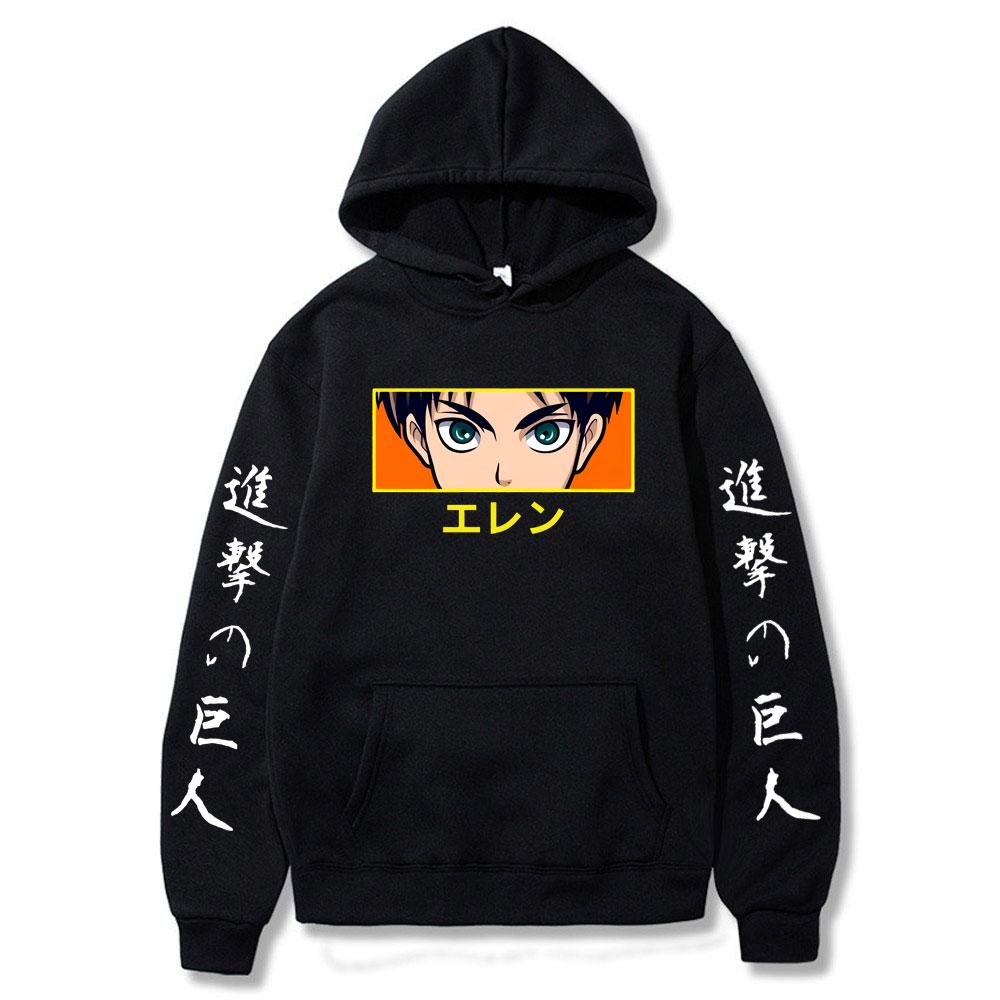 Attack on Titan Hot Anime Hoodie Pullovers Tops Long Sleeves Hooded Sweatshirt Spring 2021 New  Fashion Hoodie Men недорого