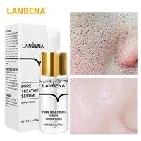 lanbena pore shrink serum hyaluronic acid nourish moisturizing dryness repair face pores treatment essence liquid skin care 15ml