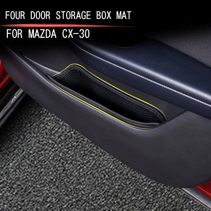 Car door handle storage bag car storage box For Mazda CX-30 2019 2020 Storage mat at bottom of side