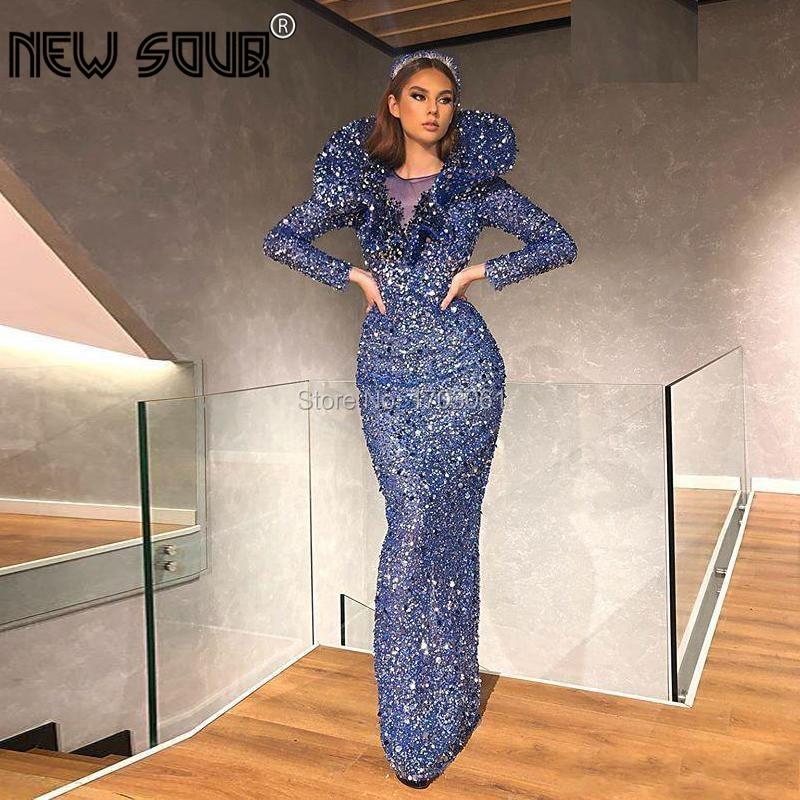 Incrível nova noite vestidos de festa robe de soiree glitter pageant vestido de festa 2020 vestidos de baile africano dubai vestido de noite kaftan