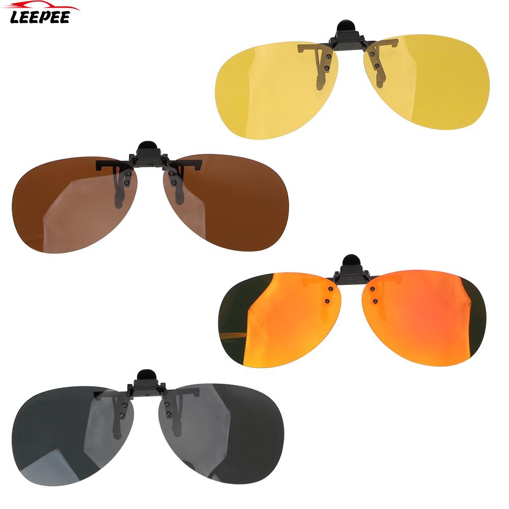 Polarized Sun Glasses Car Driving Night Vision Lens For Men Women Anti-UVA UVB Clip On Sunglasses Dr