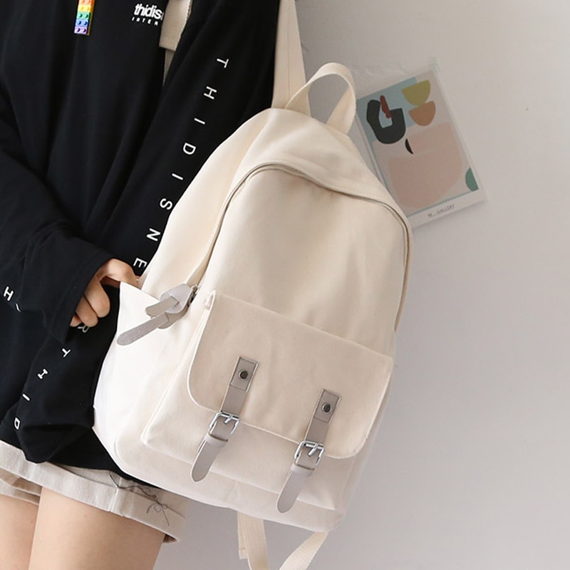 New Korean Japan Design Girls Canvas Backpacks Women Leisure Bag Teenager School Student Book Daily Bags Young