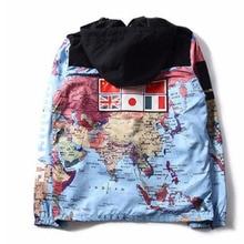 Unisex hot street fashion brand flag jacket Su up joint 3M jacket with detachable cap men luminous w