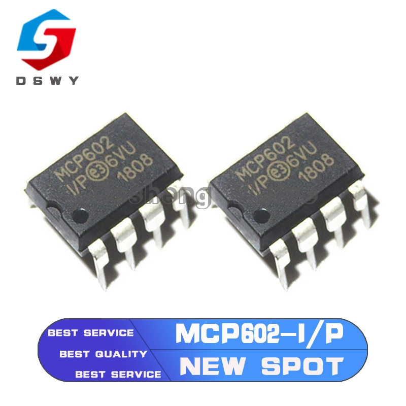 op77az op77az 883q dip8 10PCS MCP602-I/P DIP8 MCP602 DIP DIP8 2.7V to 5.5V Single Supply CMOS Op Amps