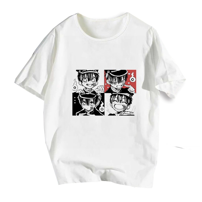 Camisa jibaku shounen hanako kun nene yashiro, camiseta de anime para cosplay de manga curta masculina e feminina camisa com camisa