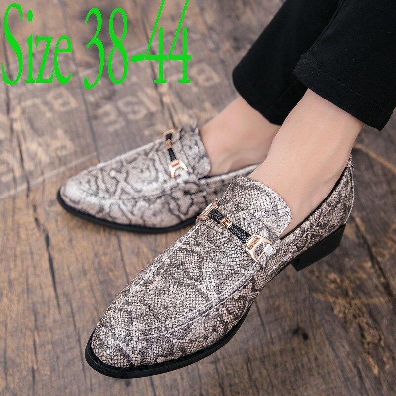 De lujo de los hombres de piel de serpiente bien plataforma oxfords zapatos de charol zapatos de hombre calzado de boda de moda famoso diseñador zapatos Oxford
