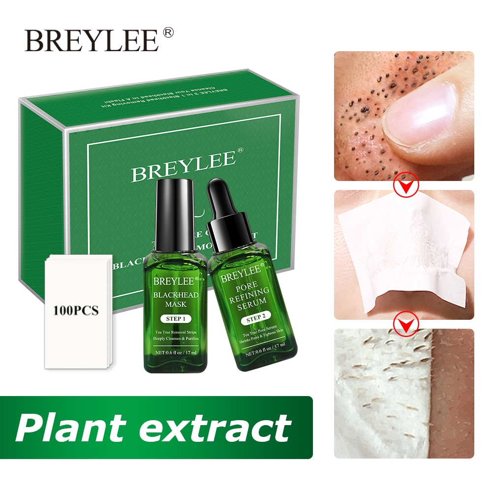 BREYLEE Black Mask Blackhead Remover Serum Face Sheet Mask Shrink Pore Acne Treatment Moisturizing Anti-aging Essence Skin Care недорого