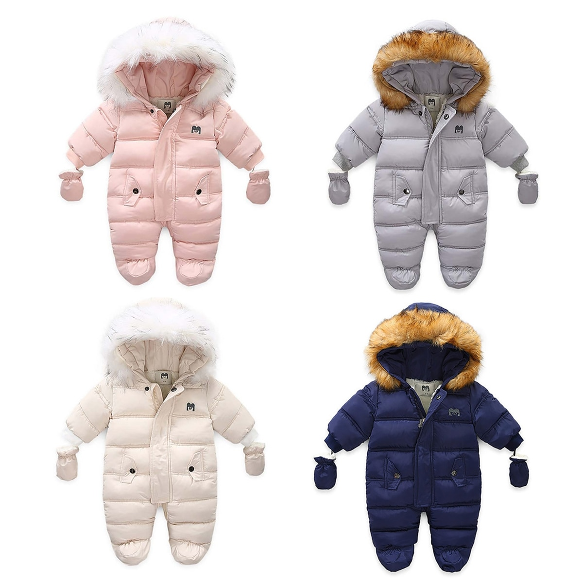 Winter Children Clothing Set Baby Boy Girl Clothes Warm Down Jacket Coat Jumpsuit Snowsuit Kids Park