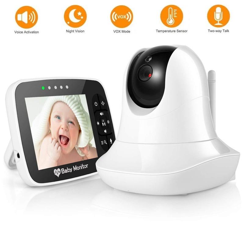 3.5 بوصة فيديو مراقبة الطفل المحمولة HD اللاسلكية الذكية الطفل كاميرا ينفاريد للرؤية الليلية فيديو رصد بيبي الفيديو والصوت