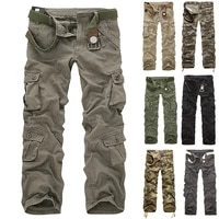 mens cargo pants multi pocket military trousers 2021 new outdoor work pants mens army straight casual long trousers