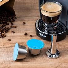Refillable נירוסטה מתכת לשימוש חוזר דולצ 'ה גוסטו כמוסה סיליקון כיסוי Dolci גוסטו קפה מכונת קפה כפית עם קליפ