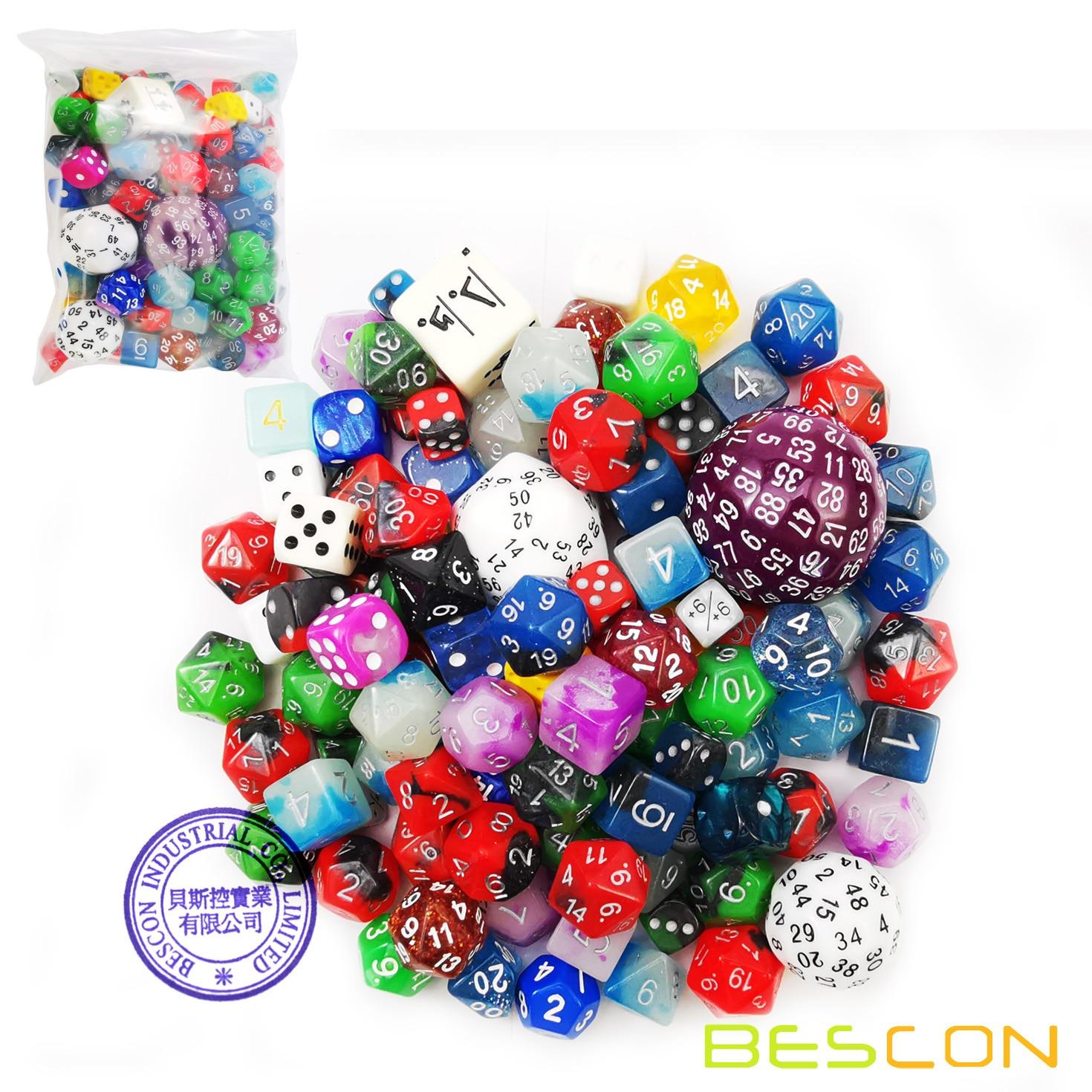 Bescon Big Better Rejects Dice Pack 100+, Second Dice Set 100pcs