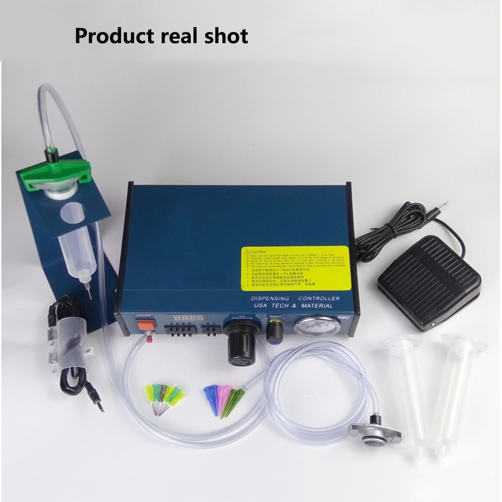 983A profesional, dispensador de pegamento automático Digital preciso, controlador de pasta líquida de soldadura, gotero de cola, dispensador de líquido, máquina de herramientas