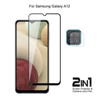 for samsung galaxy a12 camera lens protecting film full coverage protective tempered glass phone screen protector