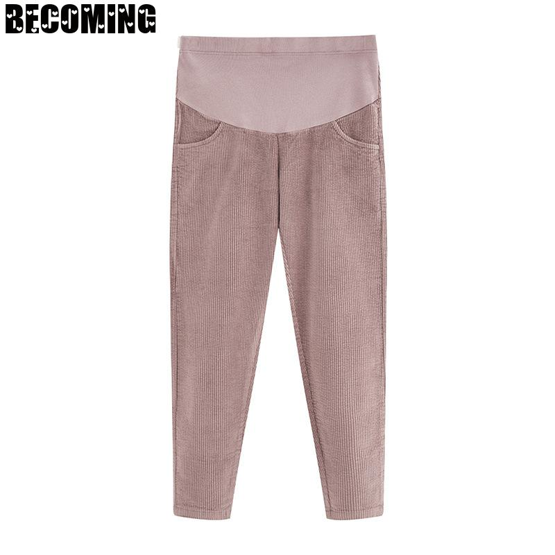 Autumn Maternity Pants High Stretch Cotton Maternity Pants Slim Fit Small Feet Elastic Casual Pregnant Women Pants enlarge