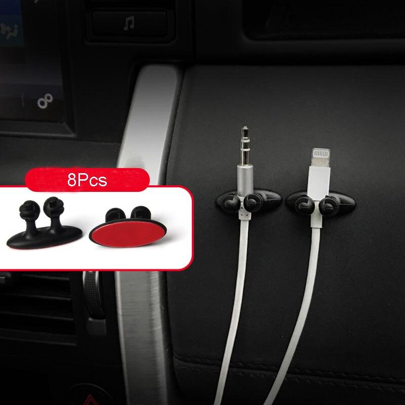 8 шт. автомобильная проводка зажим для галстука фиксатор Органайзер наклейка для audi tt Fiat Grande Punto seat ibiza bmw e87 nissan juke bmw serie 1