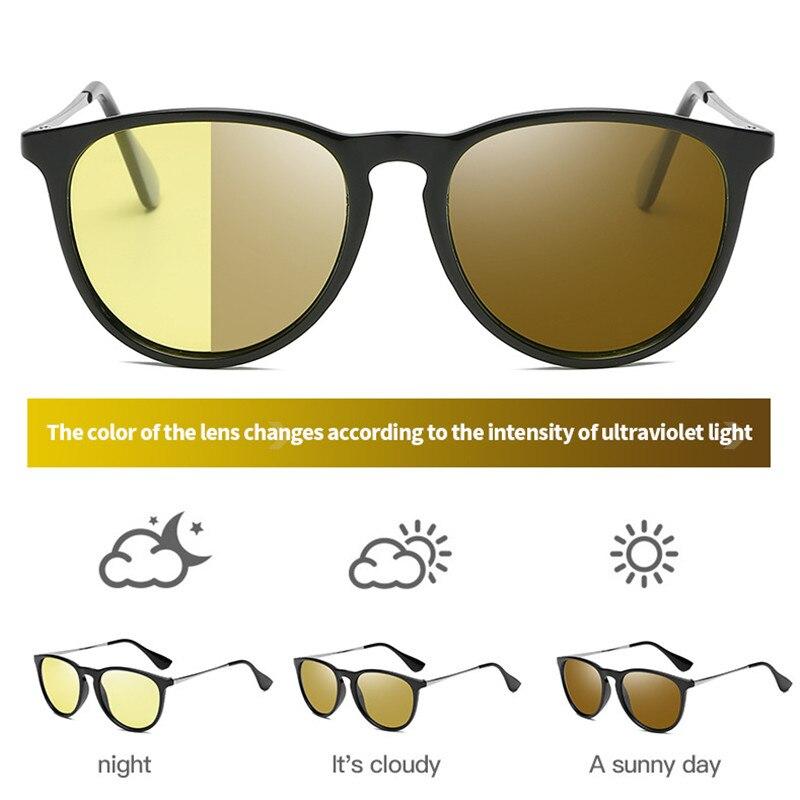 Gafas de visión Nocturna de ojo de gato gafas de sol polarizadas de visión Nocturna amarillas gafas de sol para hombres y mujeres que conducen gafas de visión Nocturna para coche