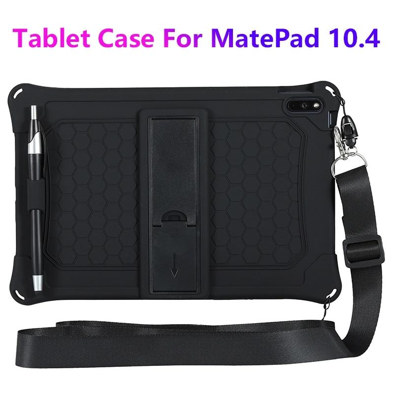 para Huawei Matepad Case de Silicone Suporte com Alça e Caneta Capa Protetora Anti-gota Tablet Case 10.4