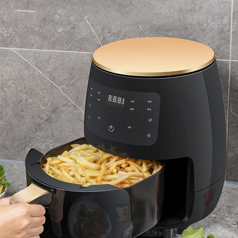 4.5L 220V Smart Air Fryer Oven Electric Deep Fryer without Oil Home Toaster Rotisserie Dehydrator LED Touch French Fries Machine