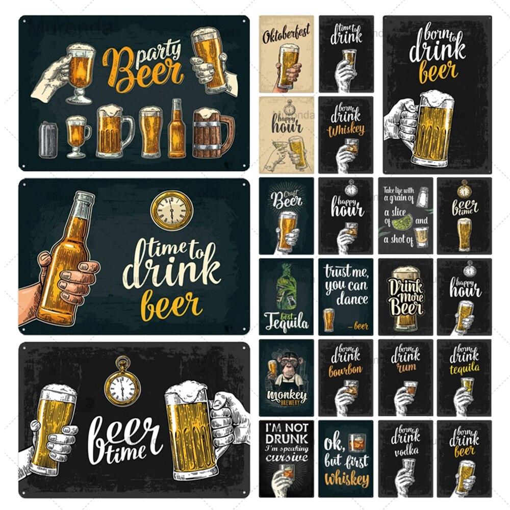 Cheers Hand Beer Cup, letrero de Metal, bebida, alcohol, barra de licor, cerveza, de Metal PLACA, decoración de pared, cartel del Club, símbolo de hierro, tamaño 20x30cm