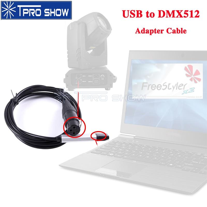 usb para dmx adaptador de interface mini fase luz controlador cabo computador conver