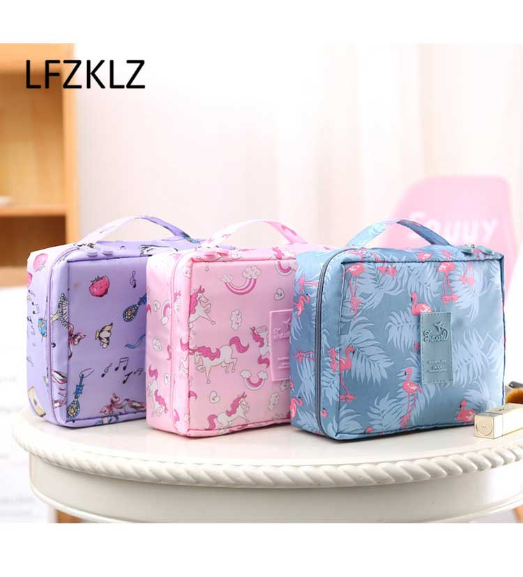 LFZKLZ 2020 Portable Women Make Up Cosmetic Bag Waterproof Beauty Case Organizer Toiletry Kits Bags