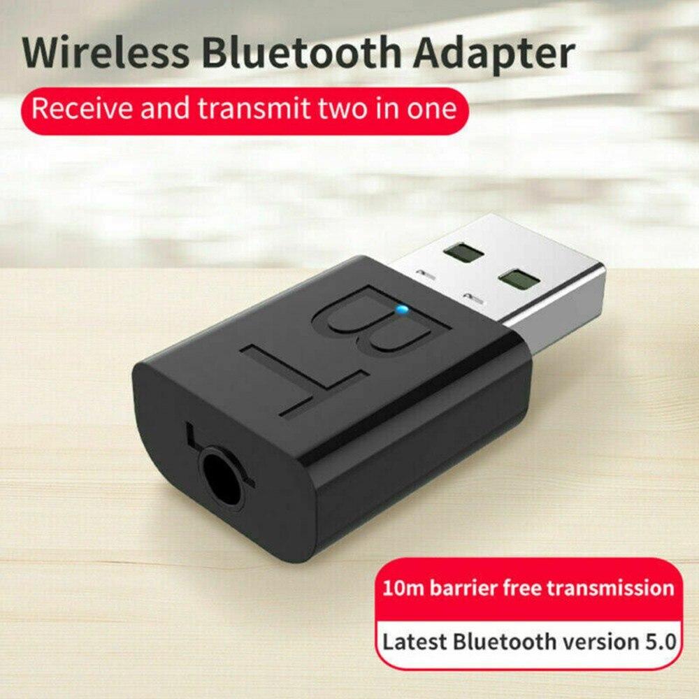 2 в 1 USB Bluetooth 5,0 передатчик приемник AUX аудио адаптер для ТВ/ПК/автомобильные аксессуары