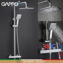GAPPO система для душа ванная термостат кран смеситель для душа кран Водопад настенное крепление Термостатический смеситель для душа