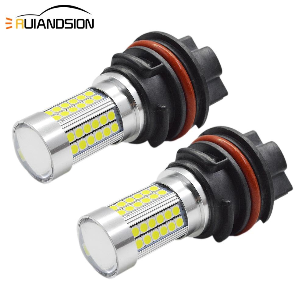 2x PH11 9014 2.7/7.8W 1200LM 3030 LED High/Low dual Beam Motorcycle Headlight Front Light Bulb 10-30V Motorbike White Head Lamp