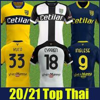 2020 2021 Parma Calcio jersey home away shirt CYPRIEN INGLESE football jersey Parma GERVINHO GRASSI KARAMOH CORNELIUS soccer jer
