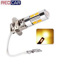 2pcs H3 LED light high power Auto led lampen Vervanging Lampen Voor Auto Mistlamp Driving Lampen Auto Licht bron parkeergelegenheid 12V Amber