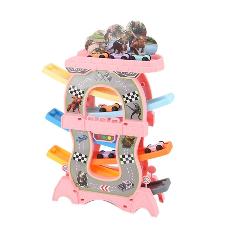 Juguetes para niños pequeños, juego de deslizamiento de carros, pista de ranura,...