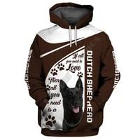 dutch shepherd 3d hoodies printed pullover men for women funny sweatshirts fshion christmas sweater drop shipping 07