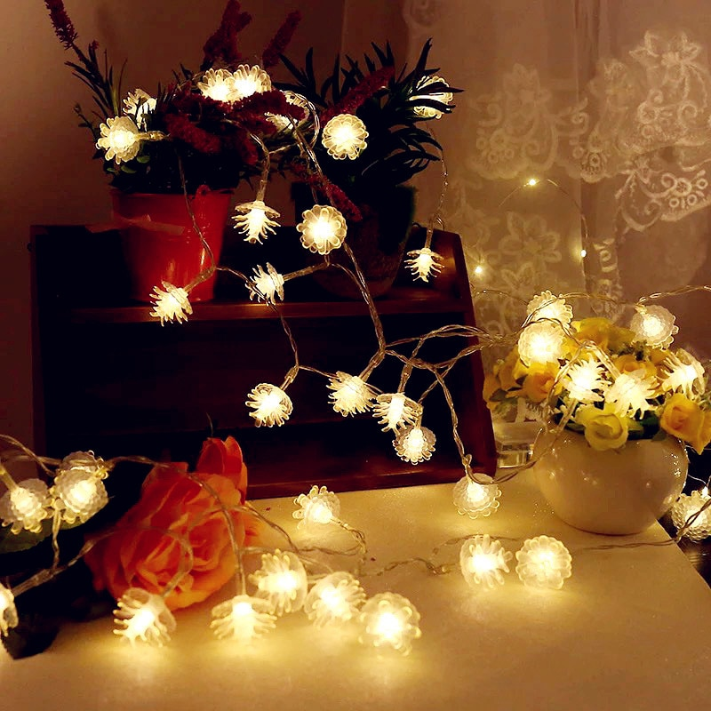 MIFLAME 2021 10/20/40 Leds String Lights Fairy Garland Christmas Tree Decorations for Home Outdoor Strip Lighting Decoration