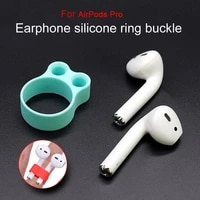 earphone holder anti falling ring shape silicone portable earbuds support stand for airpods 12